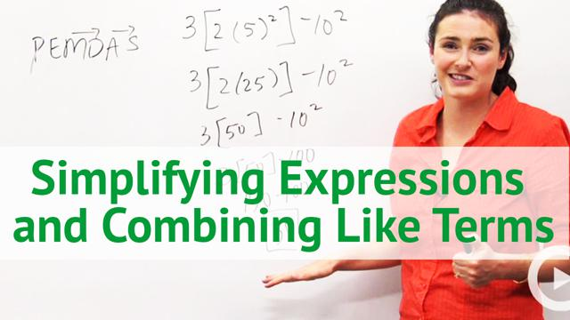 Simplifying Expressions and Combining Like Terms - Concept