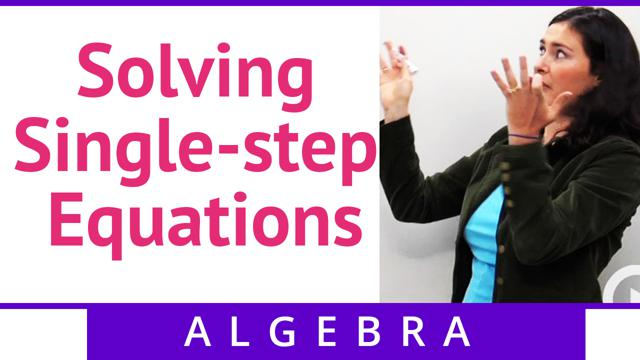 Solving Single-step Equations - Concept