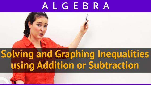 Solving and Graphing Inequalities using Addition or Subtraction - Concept