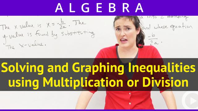 Solving and Graphing Inequalities using Multiplication or Division - Concept