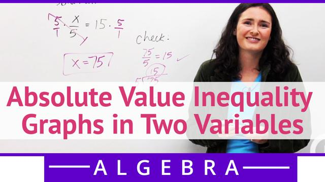 Absolute Value Inequality Graphs in Two Variables - Concept