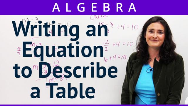 Writing an Equation to Describe a Table - Concept