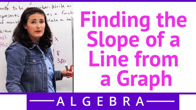 Finding the Slope of a Line from a Graph - Concept
