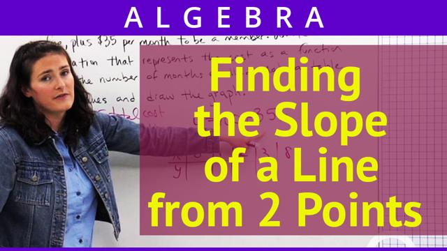 Finding the Slope of a Line from 2 Points - Concept