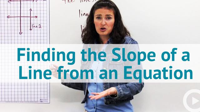 Finding the Slope of a Line from an Equation - Concept