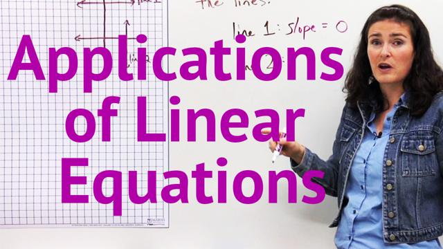 Applications of Linear Equations - Concept