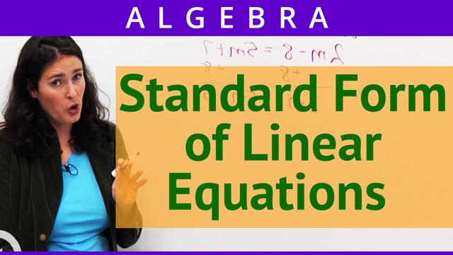Standard Form of Linear Equations - Concept