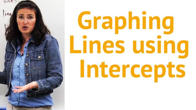 Graphing Lines using Intercepts - Concept