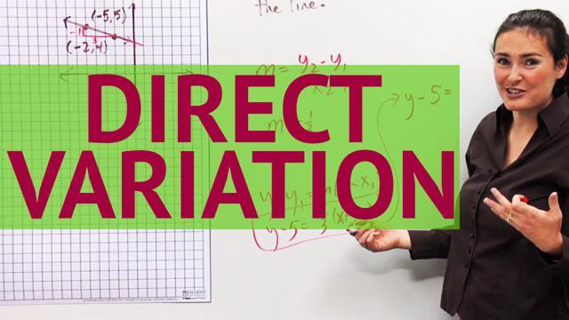 Direct Variation - Concept