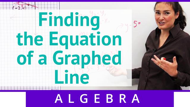 Finding the Equation of a Graphed Line - Concept