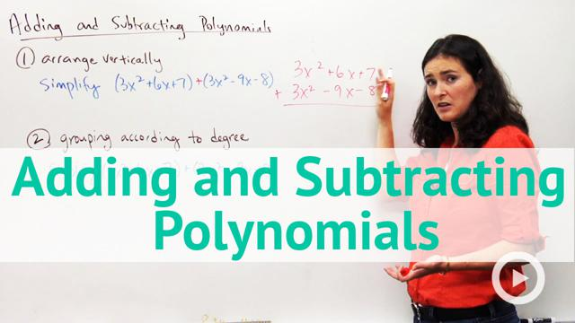 Adding and Subtracting Polynomials - Concept