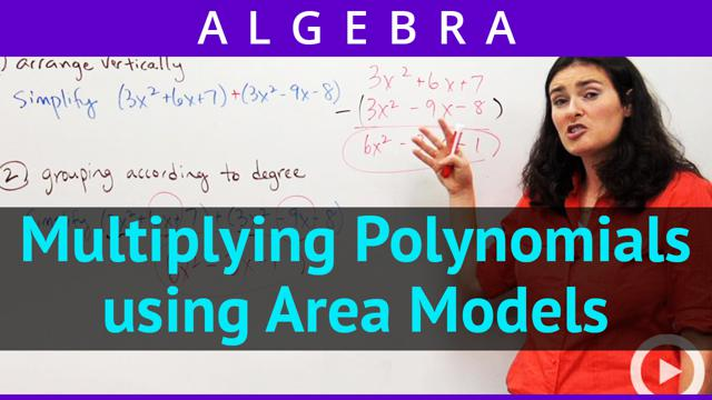 Multiplying Polynomials Using Area Models Concept Algebra Video