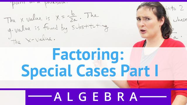 Factoring: Special Cases Part I - Concept