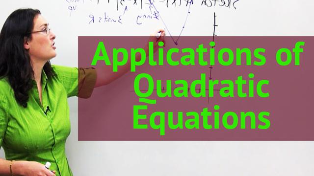 Applications of Quadratic Equations - Concept