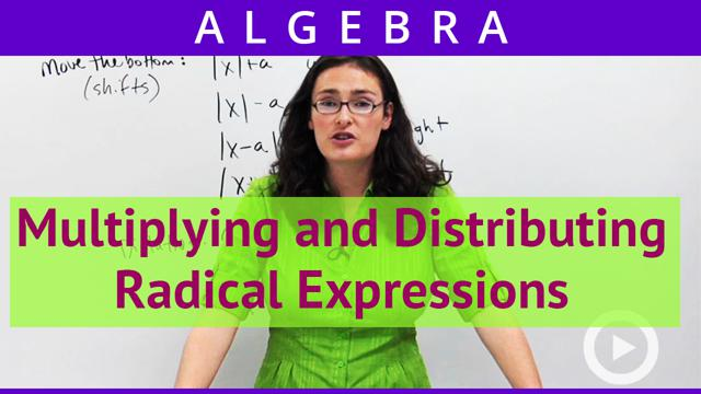 Multiplying and Distributing Radical Expressions - Concept