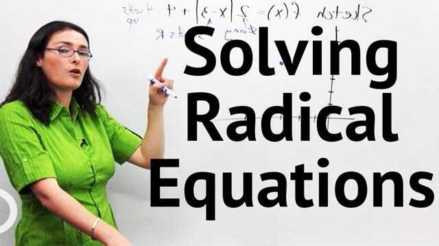 Solving Radical Equations - Concept