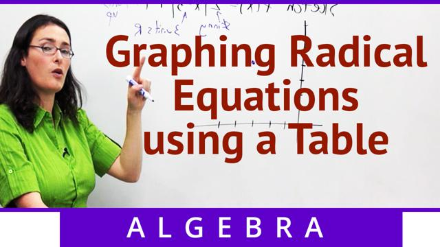 Graphing Radical Equations using a Table - Concept