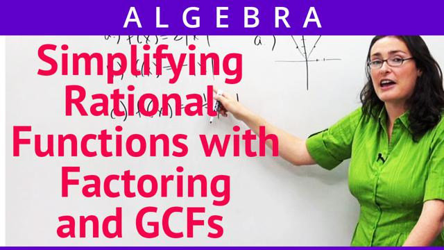 Simplifying Rational Functions with Factoring and GCFs - Concept