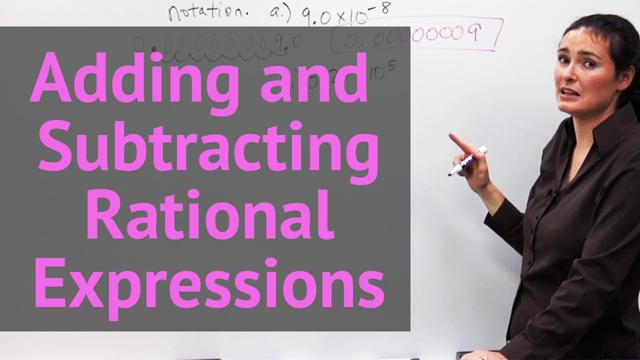 Adding and Subtracting Rational Expression - Concept