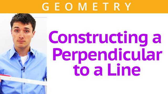 Constructing a Perpendicular to a Line - Concept