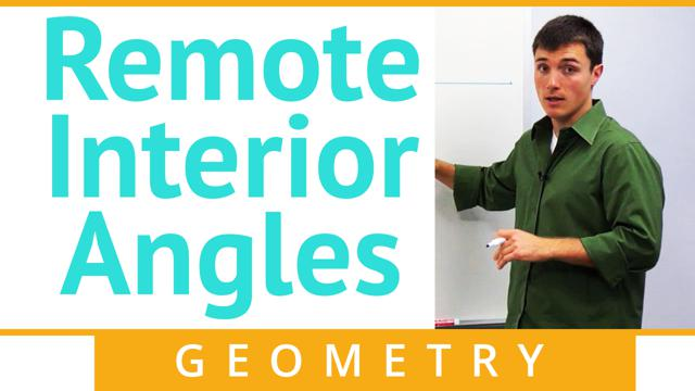 Remote Interior Angles - Concept
