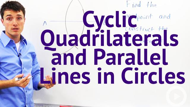 Cyclic Quadrilaterals and Parallel Lines in Circles - Concept