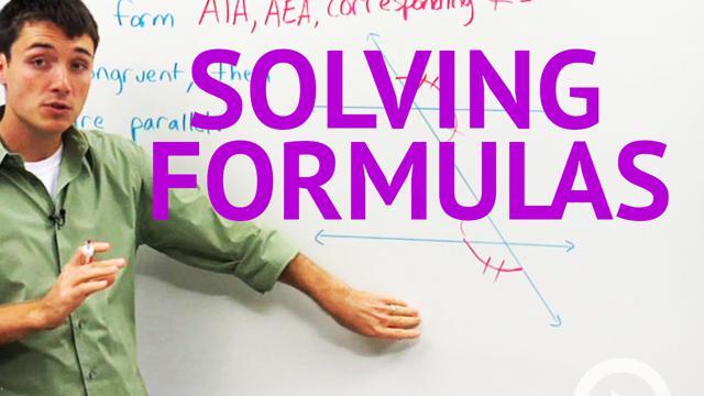 Solving Formulas - Concept