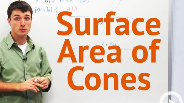 Surface Area of Cones - Concept