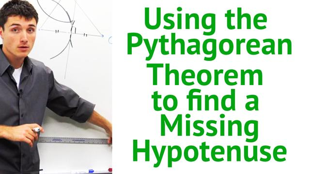 Using the Pythagorean Theorem to find a Missing Hypotenuse - Concept