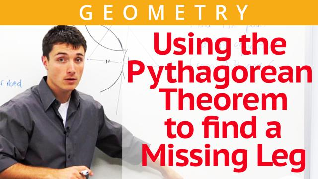 Using the Pythagorean Theorem to find a Missing Leg - Concept