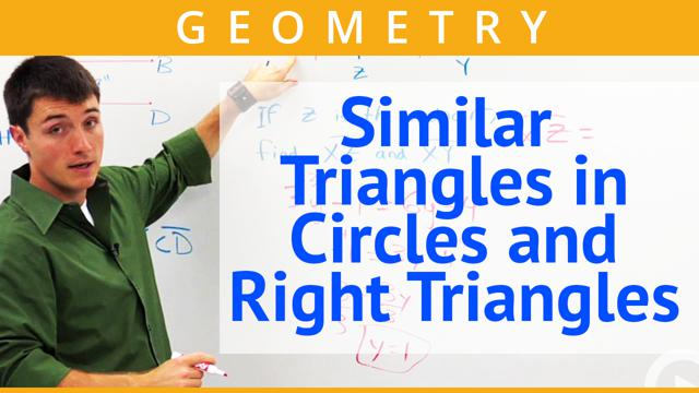Similar Triangles In Circles And Right Triangles Concept