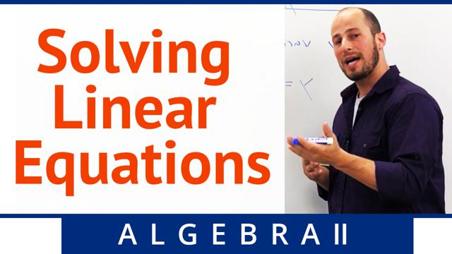 Solving Linear Equations - Concept