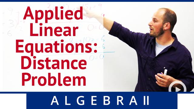 Applied Linear Equations: Distance Problem - Concept