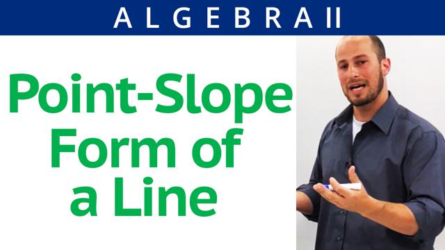 Point-Slope Form of a Line - Concept