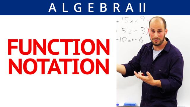 Function Notation - Concept