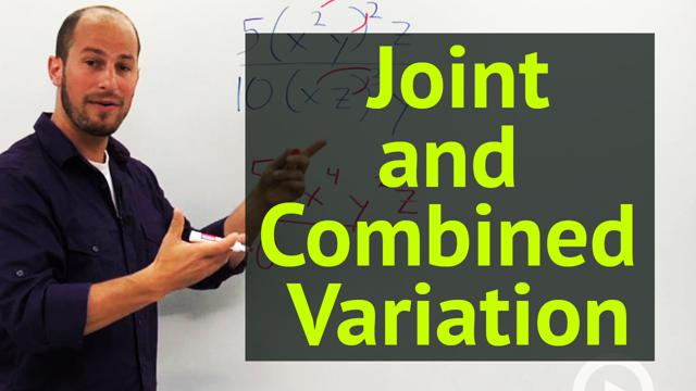 Joint and Combined Variation - Concept