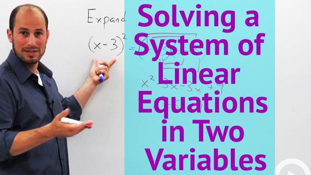 Solving a System of Linear Equations in Two Variables - Concept ...
