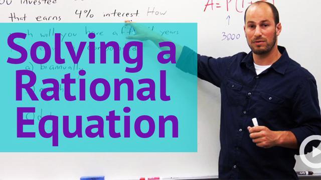 Solving a Rational Equation - Concept