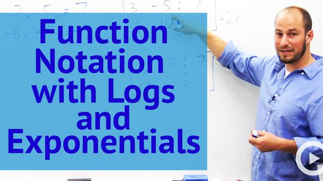 Function Notation with Logs and Exponentials  - Concept