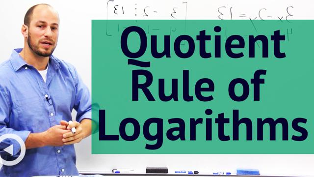 Quotient Rule of Logarithms - Concept
