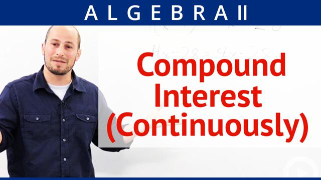 Compound Interest (Continuously) - Concept