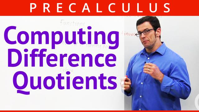 Computing Difference Quotients - Concept