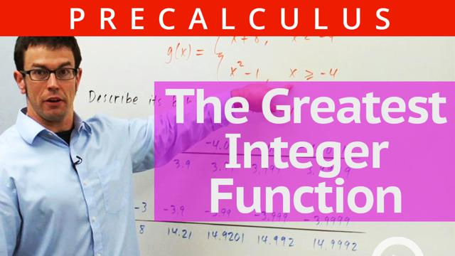 The Greatest Integer Function - Concept