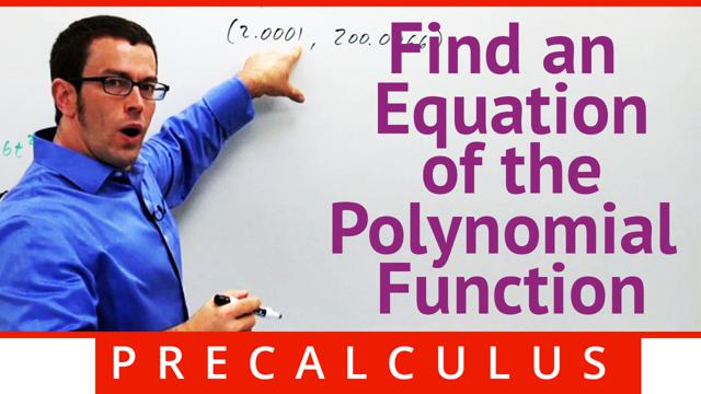 Find an Equation of the Polynomial Function - Concept