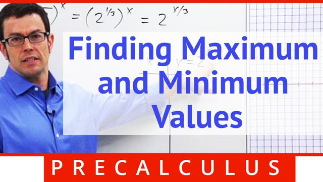 Finding Maximum and Minimum Values - Concept