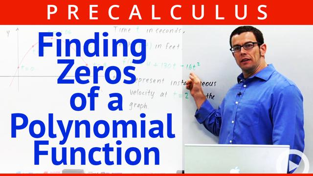 Finding Zeros of a Polynomial Function - Concept