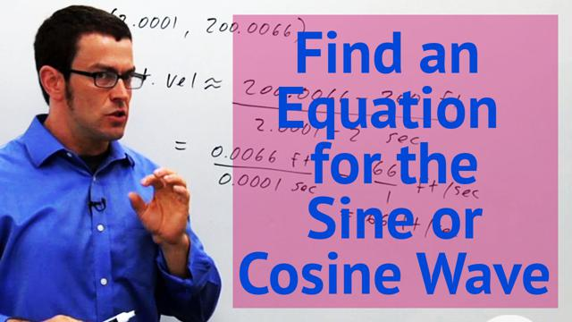 Find an Equation for the Sine or Cosine Wave - Concept