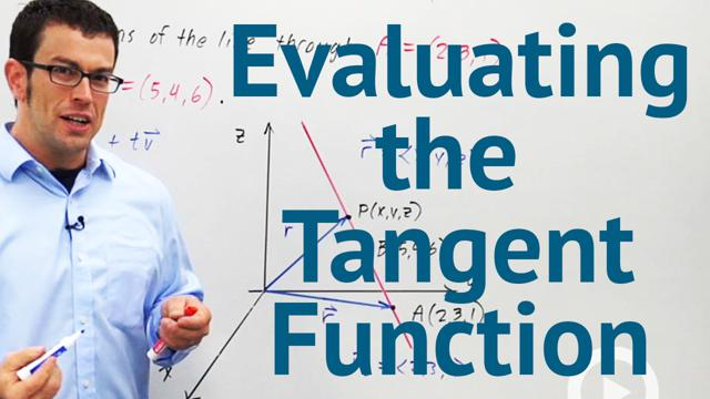 Evaluating the Tangent Function - Concept