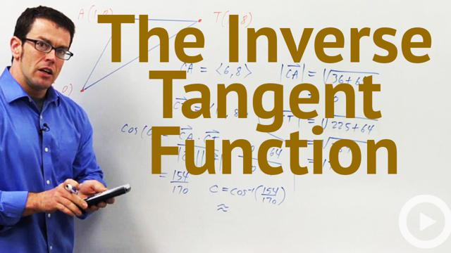 how to find inverse tangent