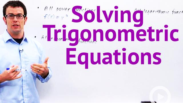 Solving Trigonometric Equations - Concept